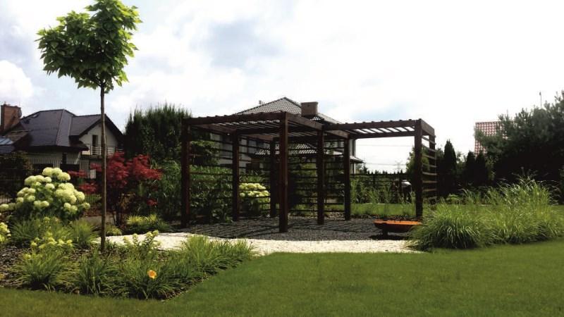 05. Ogród z nowoczesną architekturą w Babicach Starych